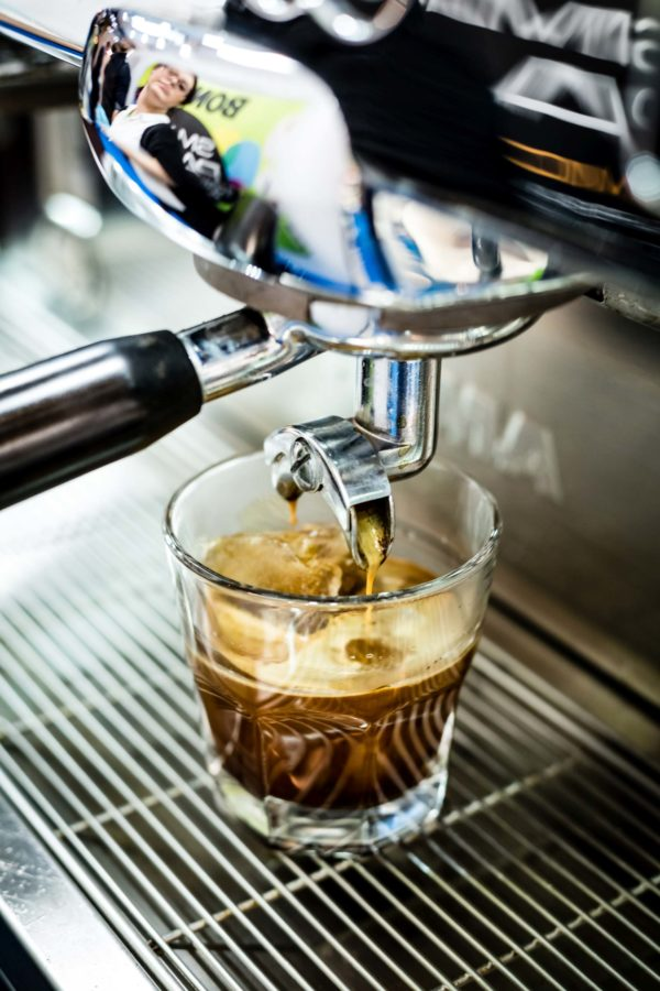 Mobilny bar z kawą